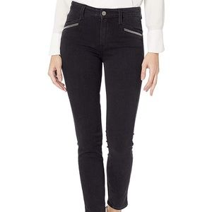 Paige black exposed zipper high rise ankle skinny